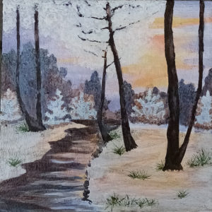 Картина «Зимний закат»