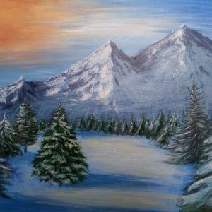 Картина «Зимние горы»