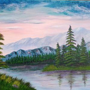 Картина «Лесная река»
